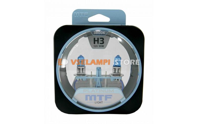 Галогенные лампы MTF - Platinum комплект 2шт. - цоколь H3