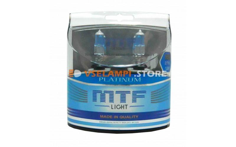Галогенные лампы MTF - Platinum комплект 2шт. - цоколь H27/1