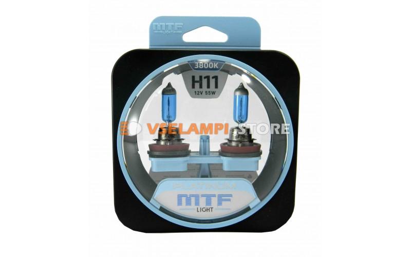Галогенные лампы MTF - Platinum комплект 2шт. - цоколь H11
