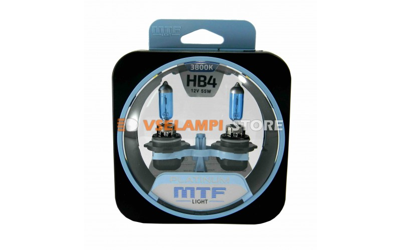 Галогенные лампы MTF - Platinum комплект 2шт. - цоколь HB4