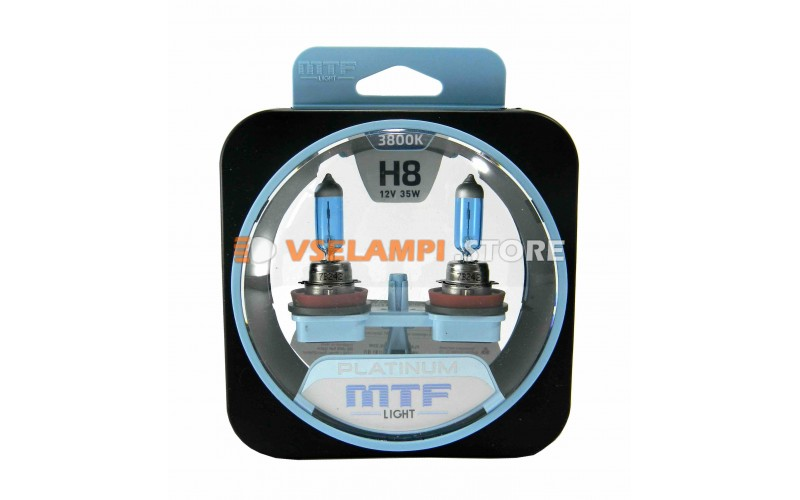 Галогенные лампы MTF - Platinum комплект 2шт. - цоколь H8