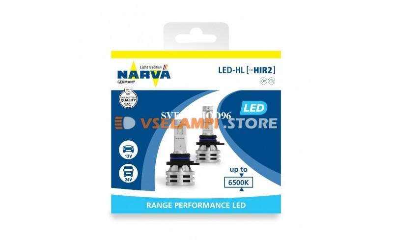 Сверх яркие Narva Range Performance LED комплект 2шт. - цоколь HIR2