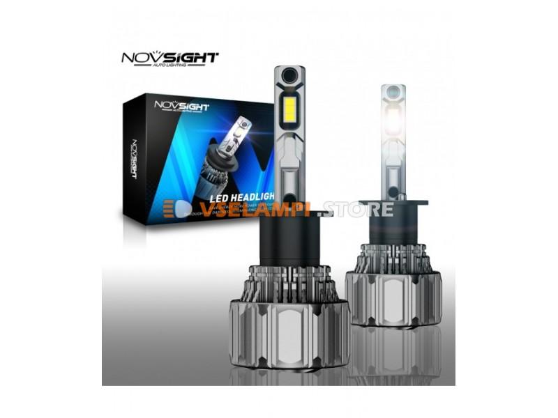 Сверх яркие светодиоды Novsight N50 6500k, комплект 2шт. - цоколь HB3