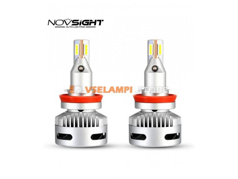 Сверх яркие светодиоды Novsight N26 6500k, комплект 2шт. - цоколь H7