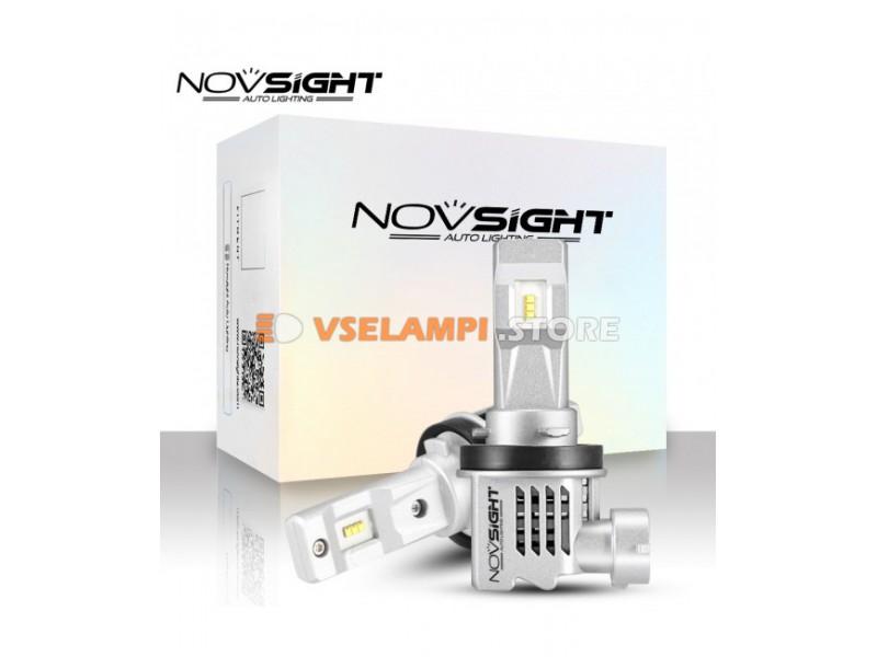 Сверх яркие светодиоды Novsight N30S 6000k, комплект 2шт. - цоколь H4