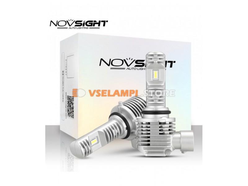 Сверх яркие светодиоды Novsight N36 6000k, комплект 2шт. - цоколь H4