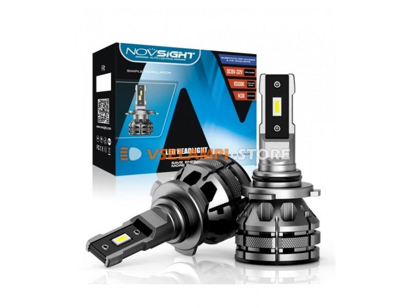 Сверх яркие светодиоды Novsight N38 6500k, комплект 2шт. - цоколь H8/H9/H11