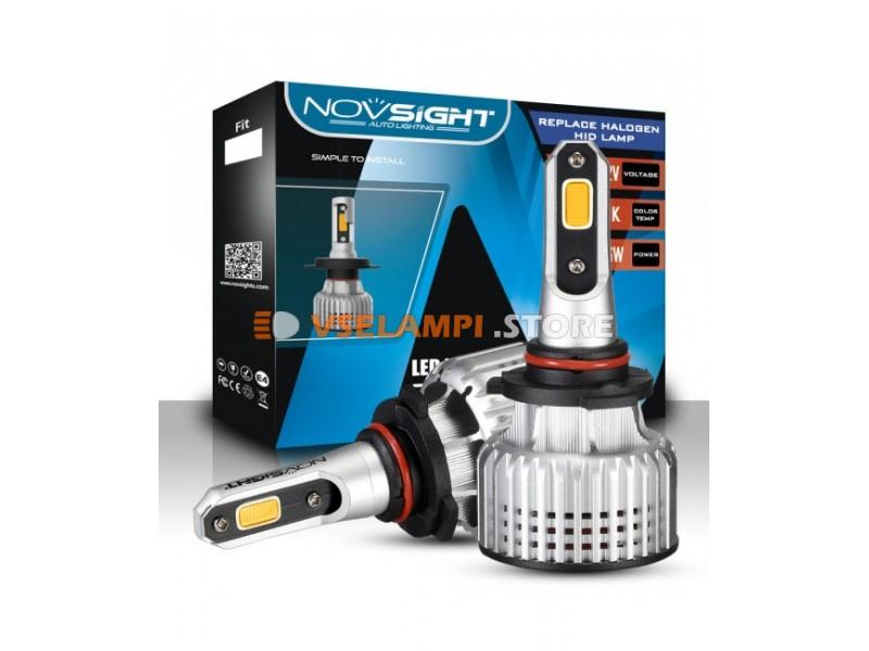 Сверх яркие светодиоды Novsight N12Y 3000k, комплект 2шт. - цоколь H4