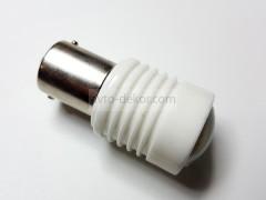 Светодиод 12-24v T25 6SMD 5050 1 конт. белый линза керамика