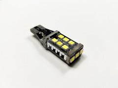 Светодиод 12v T15 15SMD б/ц обманка, радиатор белый