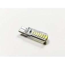 Диод 12v Т10 34мм габариты силикон белый 16 SMD