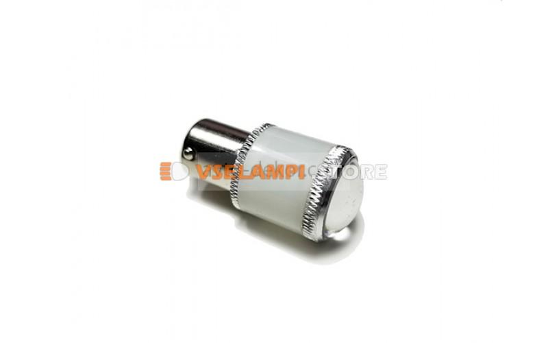 Светодиод 12v T25 9SMD 1 конт. матовая пластик линза - цвет свечения белый
