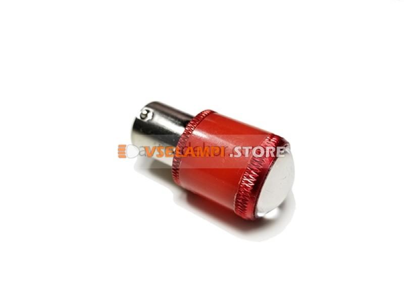 Светодиод 12v T25 9SMD 1 конт. матовая пластик линза - цвет свечения желтый