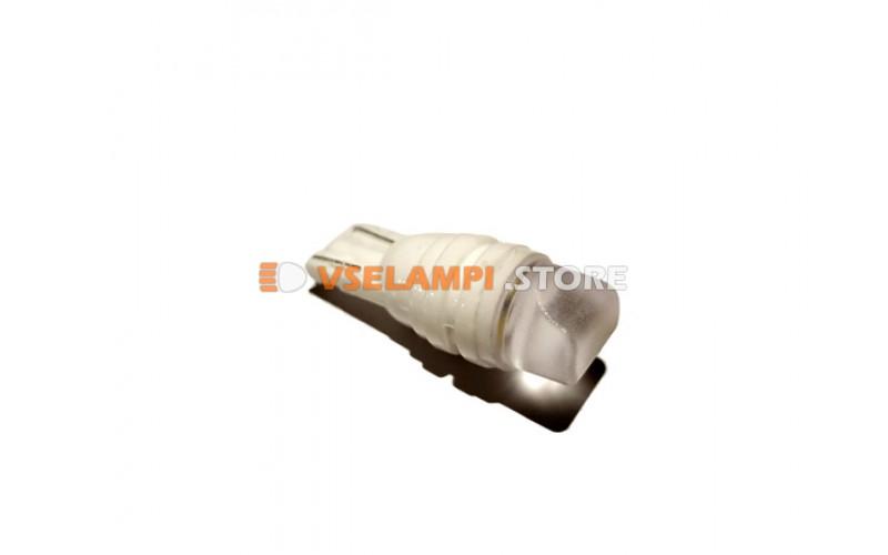 Светодиод 12vT10 1SMD б/ц белый керамика, цоколь фарфоровый
