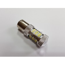 Светодиод 12-24v T25 45SMD 1 конт. белый линза, обманка, защита от перегрева