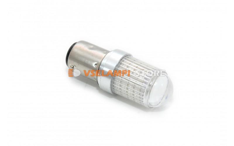 Светодиод 12v T25/5 66SMD линза 2 конт.