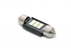 Светодиод 12-24v T11 36мм AC 6SMD 3030, обманка, белый