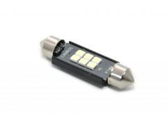 Светодиод 12-24v T11 41mm AC 6SMD 3030 AC обманка белый