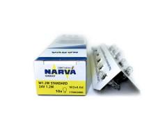 Авто-лампочка б/ц Narva W1.2W (W2x4.6d), 24v, 1.2w, желтый