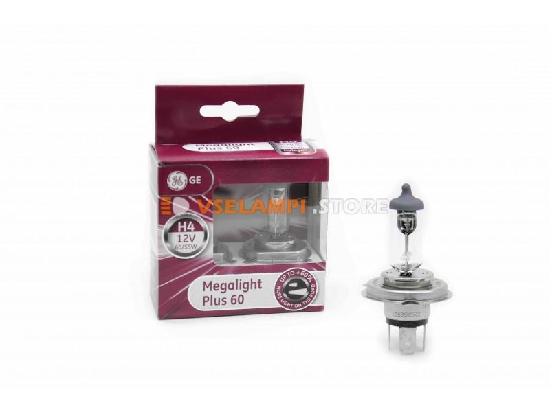 Галогенные лампы General Electric (TUNGSRAM) MEGALIGHT PLUS +50% света комплект 2шт.