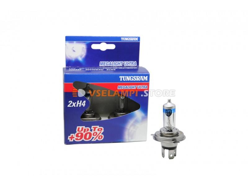 Галогенные лампы General Electric Megalight Ultra +90% света комплект 2шт. - цоколь H11