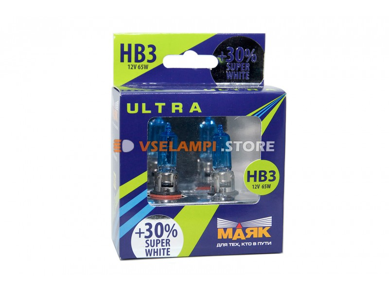 Галогенные лампы Маяк Super White +30% комплект 2шт. - цоколь H12
