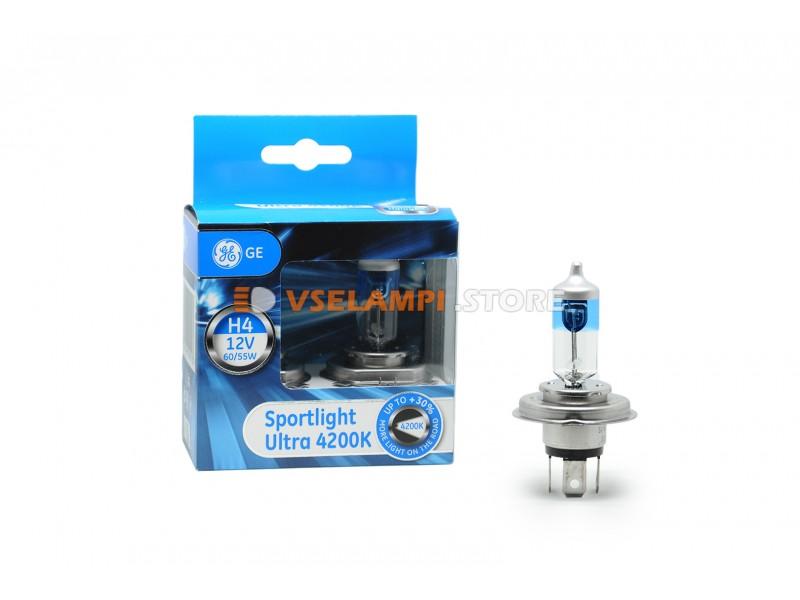 Галогенные ламы General Electric Sportlight Ultra 4200k +30% света комплект 2шт