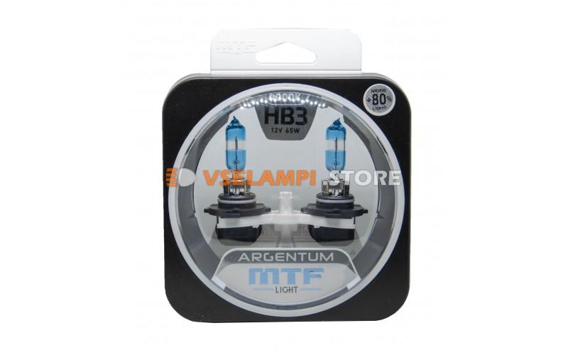 Галогенные лампы MTF - Argentum +80% комплект 2шт. - цоколь HB3