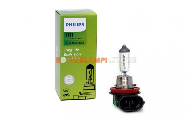Галогенная лампа PHILIPS - Premium - цоколь H11