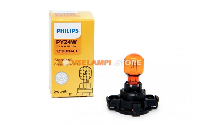 Галогенная лампа PHILIPS - Premium - цоколь PY24W