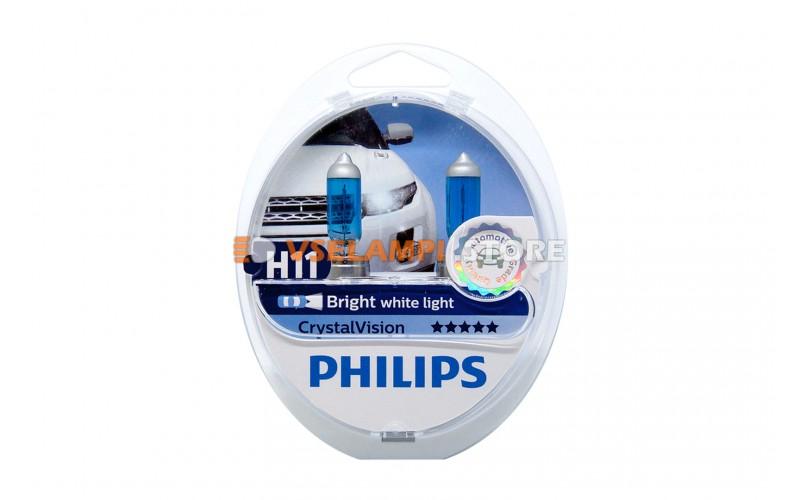 Галогенные лампы Philips Cristal Vision комплект 2шт. - цоколь H11