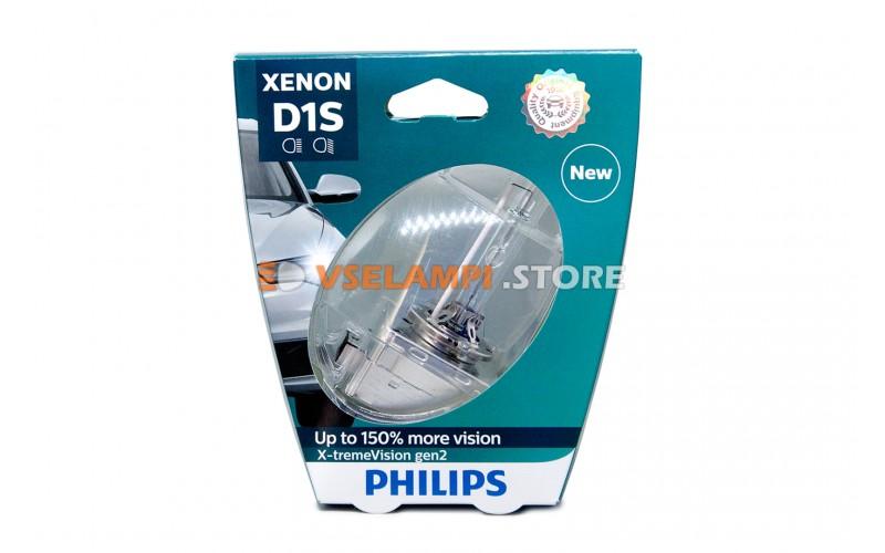 Ксеноновая лампа PHILIPS X-tremeVision gen2 +150% - цоколь D1S