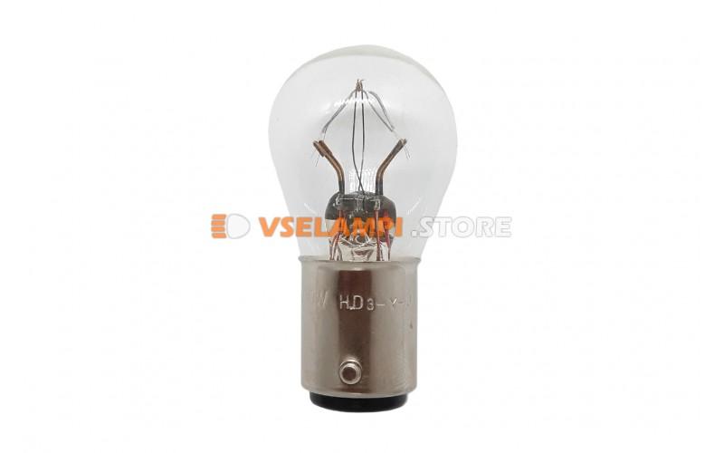 Лампа накаливания 2-контактная KOITO S25 P21/10W, 24v, 25/10w, цвет желтый, 1шт - 4722