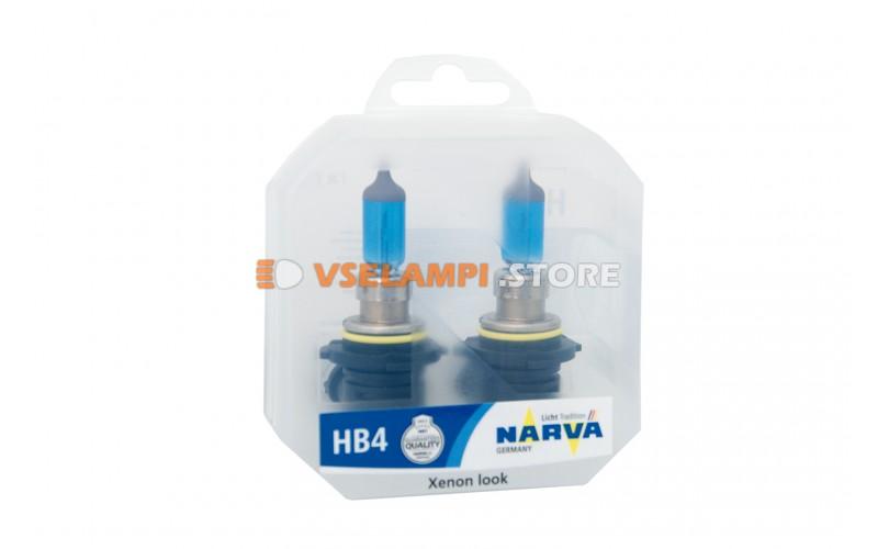 Галогенные лампы Narva - Range Power White комплект 2шт. - цоколь HB4
