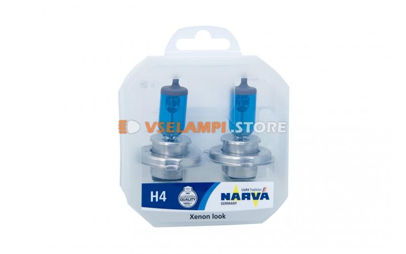 Галогенные лампы Narva - Range Power White комплект 2шт. - цоколь H4