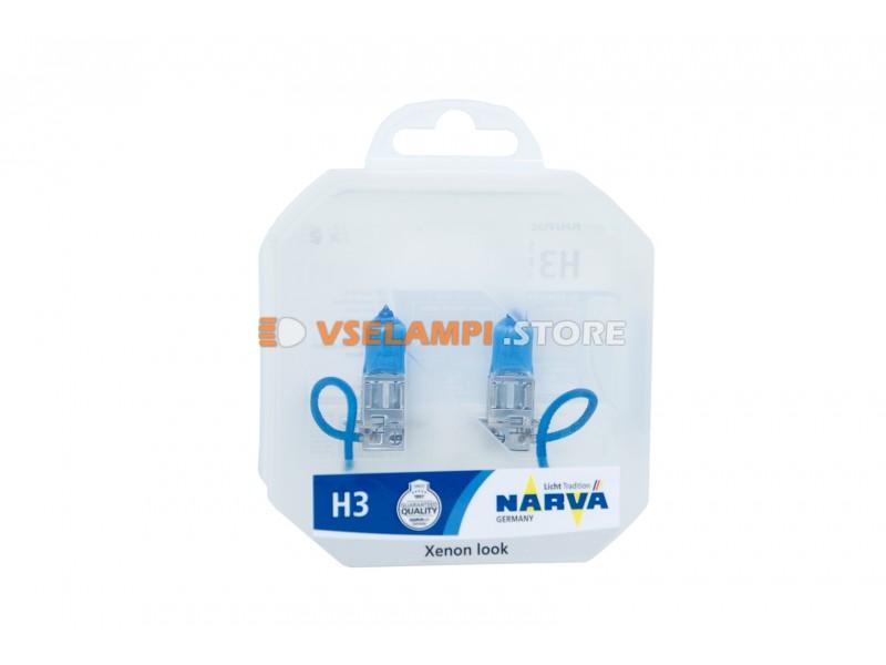 Галогенные лампы Narva - Range Power White комплект 2шт. - цоколь H3