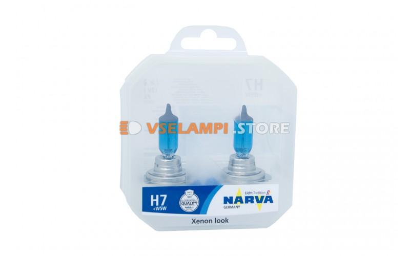 Галогенные лампы Narva - Range Power White комплект 2шт. - цоколь H7