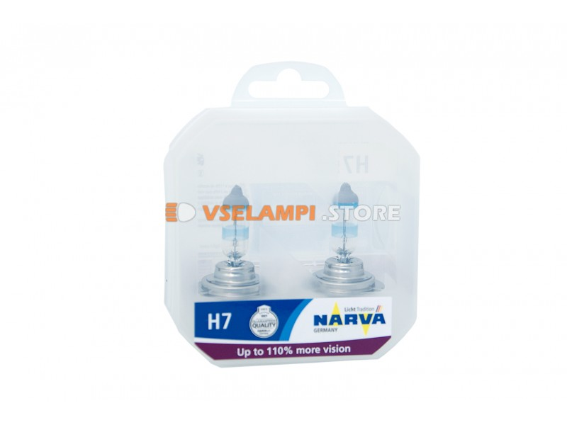 Галогенные лампы Narva - Range Power +110% комплект 2шт. - цоколь H4