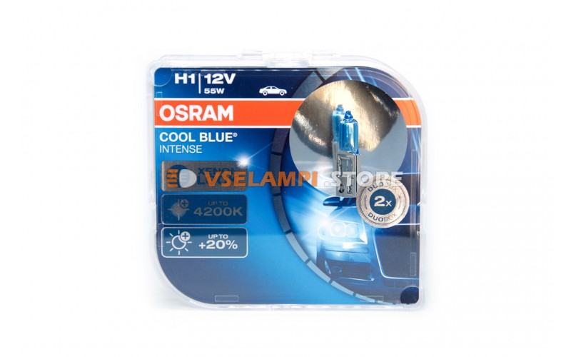 Галогенные лампы OSRAM COOL BLUE INTENSE EURO BOX комплект 2шт. - цоколь H1