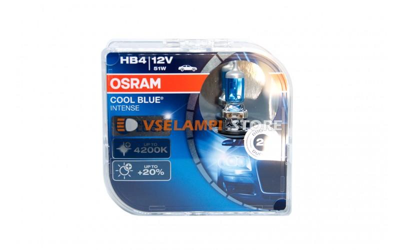 Галогенные лампы OSRAM COOL BLUE INTENSE EURO BOX комплект 2шт. - цоколь HB4