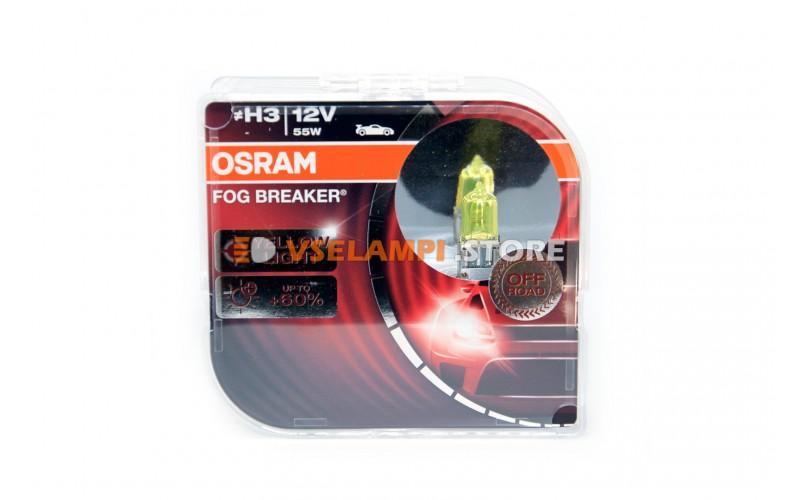 Галогенные лампы OSRAM FOG BREAKER +60% света EURO BOX комплект 2шт. - цоколь H3