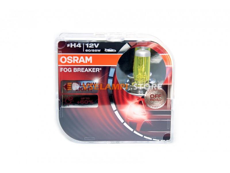Галогенные лампы OSRAM FOG BREAKER +60% света EURO BOX комплект 2шт.
