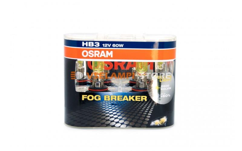 Галогенные лампы OSRAM FOG BREAKER +60% света EURO BOX комплект 2шт. - цоколь HB3