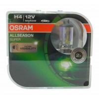 Комплект галогена 2шт - OSRAM ALLSEASON SUPER +30% - EURO BOX, 12v, 60/55w, желтый