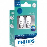 Светодиод PHILIPS W5W 12v 1w (W2,1x9,5d) LED 4000K 12791 4000KX2