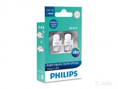 Светодиод PHILIPS W5W 12v 1w (W2,1x9,5d) LED 6000K 12791 6000KX2