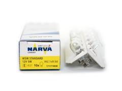 Авто-лампочка б/ц Narva W5W (W2.1x9.5d), 1 конт, 12v, 5w, желтый