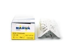 Авто-лампочка б/ц Narva W3W (W2.1x9.5d), 1 конт, 12v, 3w, желтый