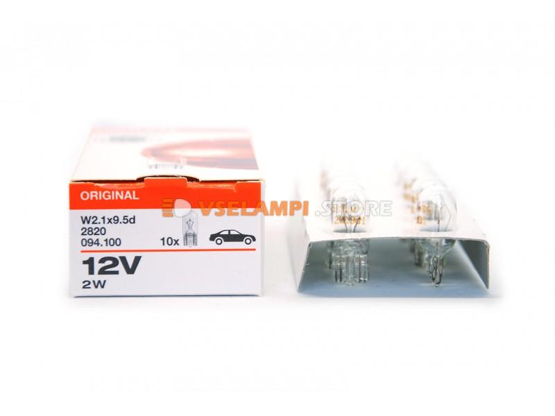 Авто-лампочка OSRAM 12v (2w) W2,1x9,5d б/ц 2820