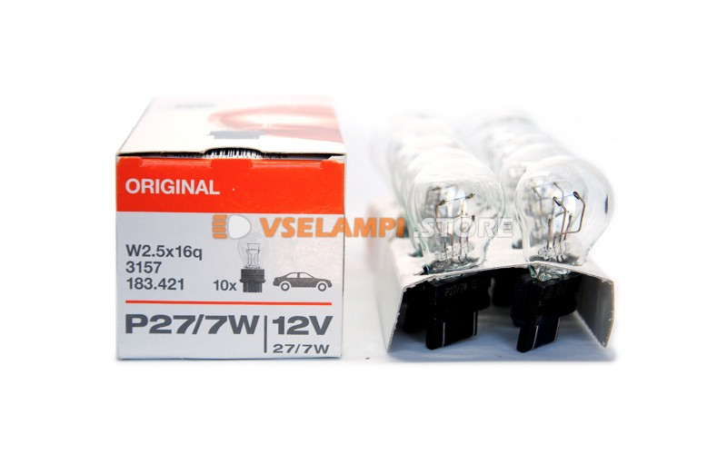 Авто-лампочка OSRAM P27/7W 12v(27/7w) W2,5x16g 3157